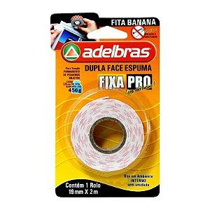 FITA DUPLA FACE ESPUMA 19MM X 2M FIXA PRO ADELBRAS(25171)