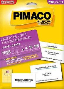 ETIQUETA PIMACO 7088 - ETIQUETAS 50,8 X 88,9 (10 FLS X 10 UNID.)(7341)