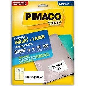 ETIQUETA PIMACO 8099F - ETIQUETAS 46,56 X 77,79 (10 FLS X 10 UNID.)(335843)