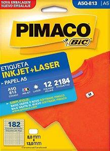 ETIQUETA PIMACO A5Q 813 - ETIQUETAS 8 X 13 (12 FLS X 182 UNID.)(11520)
