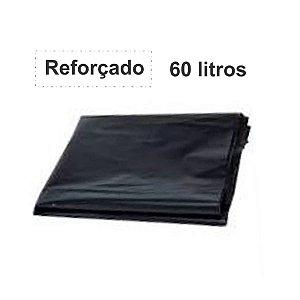 SACO PARA LIXO PRETO 60L. ALMOFADA REFORÇADO 1KG 65X80 SBK