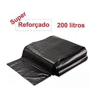 SACO PARA LIXO PRETO 200L. ALMOFADA SUPER REFORÇADO 3KG. 95X120 SBK