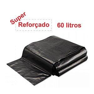 SACO PARA LIXO PRETO 60L. ALMOFADA SUPER REFORÇADO 3KG 70X80 SBK