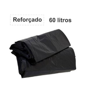 SACO PARA LIXO PRETO 60L. ALMOFADA REFORÇADO 3KG 65X80