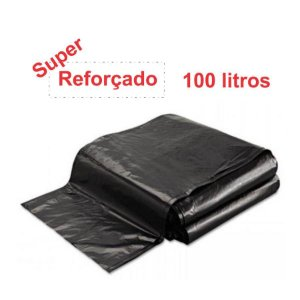 SACO PARA LIXO PRETO 100L. ALMOFADA SUPER REFORÇADO 3KG. 95X105 SBK