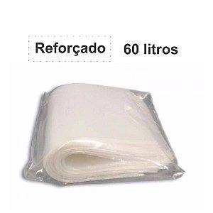 SACO PARA LIXO BRANCO 60L. C/100 UNID. ALMOFADA REFORÇADO 3,0KG 65X80X06 JJ