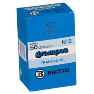 CLIPS GRAMPO TRANÇADO N.2 3X4CM 50 UNID. BACCHI