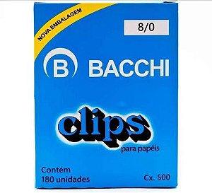 CLIPS GALVANIZADOS N.8/0 170 UNID. LINHA LEVE BACCHI