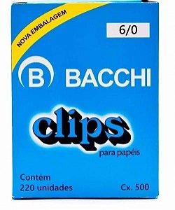 CLIPS GALVANIZADOS N.6/0 220 UNID. LINHA LEVE BACCHI