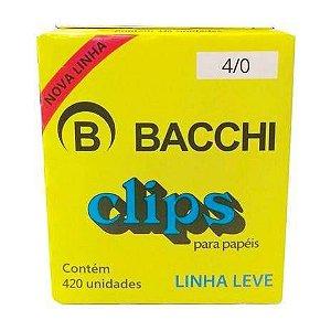 CLIPS GALVANIZADOS N.4/0 420 UNID. LINHA LEVE BACCHI