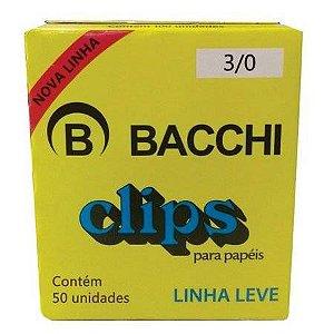 CLIPS GALVANIZADOS N.3/0 CAIXA 50 UNID. LINHA LEVE BACCHI(116176/10)