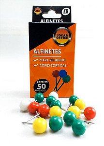 ALFINETE P/MAPA REDONDO 50 UNID. JOCAR