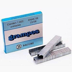 GRAMPO GALVANIZADO 23/8 ENAK 8 CAIXA C/5000 UNID. BACCHI(4189)