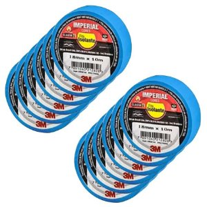 FITA ISOLANTE AZUL 18MM X 10 MTS C/10 ROLOS IMPERIAL 3M