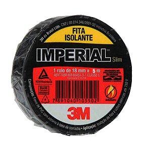FITA ISOLANTE IMPERIAL 5 MTS X 18MM PRETA UNID. 3M
