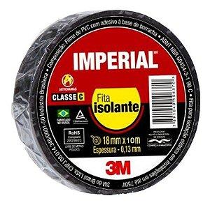 FITA ISOLANTE IMPERIAL 10 MTS X 18MM PRETA UNID. 3M