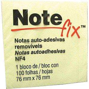 BLOCO ADESIVO NOTEFIX 76X76 AMARELO 100 FOLHAS AUTO-ADESIVAS 3M