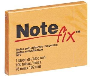 BLOCO ADESIVO NOTEFIX 76X102 LARANJA 100 FOLHAS AUTO-ADESIVAS 3M