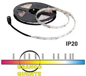 "FITA LED ""IP20"" 2835 BRANCO QUENTE(3000K) 5M 12V. 4,8W/M.(24W.) JNG"