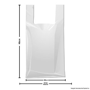 SACOLA PLASTICA REFORÇADA 30X40 BRANCA (APROX.3 KG.)SOMIL
