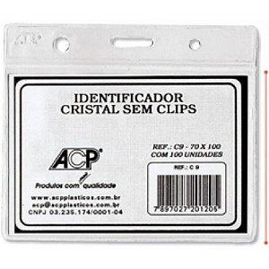 CRACHA C-09 CRISTAL 70X100 S/CLIPS ACP
