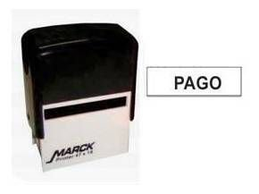 "CARIMBO AUTOMÁTICO ""PAGO"" 38X14MM CARBRINK"