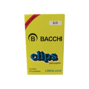 CLIPS GALVANIZADOS N.6/0 50 UNID. LINHA LEVE BACCHI