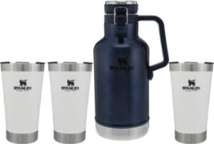 Kit Promocional - 3 Copos Brancos com Tampa & 1 Growler Azul Nightfall- STANLEY