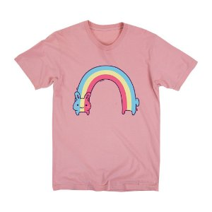 Camiseta Unissex Rabbit Rainbow