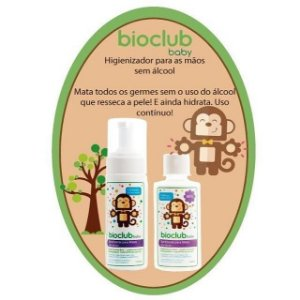 Higienizador Para Mãos Sem Álcool Bioclub Baby 150ml - REFIL