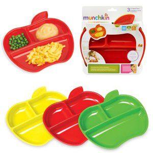 Conjunto de Pratos Maçã com 3 unidades - Munchkin