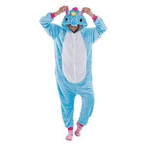 Pijama de Unicórnio - Azul