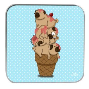 "CARREGADOR PORTATIL ""POWERBANK"" ICE PUGS BY MARI ILUSTRA COM 7.800 mAh"