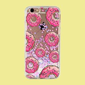 "Capa para Celular ""Case"" Donuts Glitter"