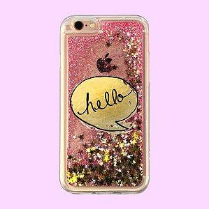 """Capa para Celular """"Case"""" Hello Glitter"""