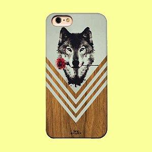 """Capa para Celular """"Case"""" O Lobo e a Rosa Bambu"""