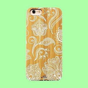 """Capa para Celular """"Case"""" Mandala Rosas Bambu"""