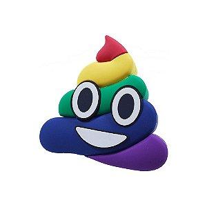 """Carregador Portátil """"Powerbank"""" Emoji - Poop cocô arco-iris"""