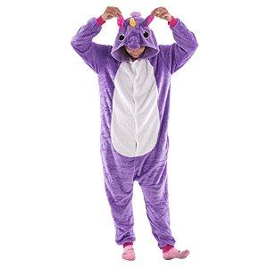Pijama de Unicórnio - Roxo