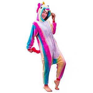 Pijama de Unicórnio - Arco íris