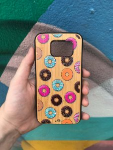 "Capa para Celular ""Case"" Donuts Bambu Samsung"