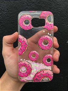 "Capa para Celular ""Case"" Donuts Glitter Samsung"