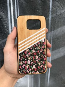 """Capa para Celular """"Case"""" Floral Bambu Samsung"""