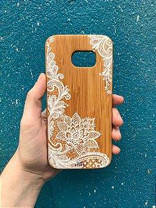 """Capa para Celular """"Case"""" Flor de Lotus Bambu Samsung"""