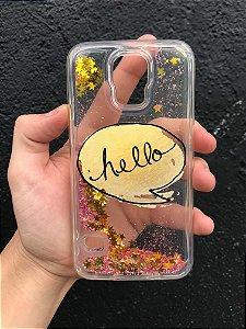 """Capa para Celular """"Case"""" Hello Glitter Samsung"""