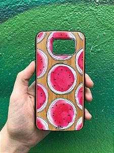 """Capa para Celular """"Case"""" Melancia Bambu Samsung"""