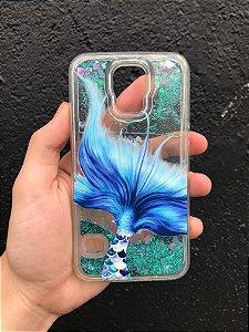 """Capa para Celular """"Case"""" Sereiando Glitter Samsung"""
