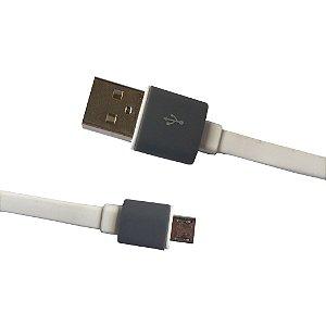 CABO COM SAIDA USB/MICRO USB (COR BRANCA)