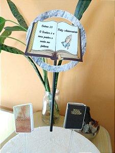 BIBLIA CIRCULAR TOPO DE BOLO (PAPEL FOTOGRÁFICO)