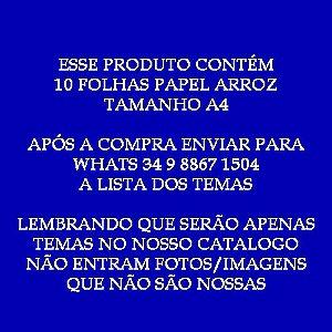 KIT PROMOCIONAL 1 - 10 UNIDADES PAPEL ARROZ (SIGA INSTRUÇÕES NA FOTO DO PRODUTO)